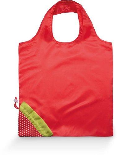Modische Einkaufstaschen (Modische Einkaufstasche faltbar als Erdbeere - Farbe: Red - Größe: 40 x 38 cm)