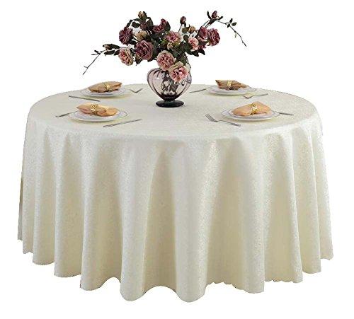 """Tissu de table classique en velours rond classique en toile 71x71 """", beige"""