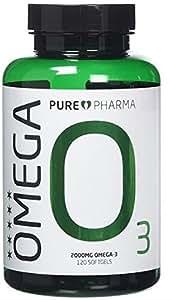 Omega 3 - Ultra Reines Fischöl - 2000MG Omega 3- 120 Kapseln - Pure Pharma