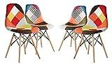 MAURY'S SET 4 SEDIE PATCHWORK COLORI ASSORTITI Sedie patchwork tappezzate in differenti colori e motivi, hanno una seduta elegante e allo stesso tempo spiritosa che donerà un tocco unico alla tua casa. Riprodotta sullo stile della sedia da d...
