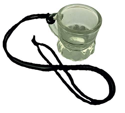 RPN 24 x Schnapsgläser Schnapsglas Umhänge Band Shots 2cl Trinkglas Schnapskrug Glas (Schwarz)