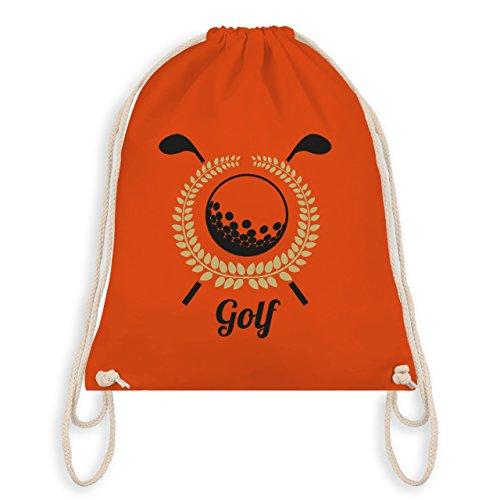 Golf - Lorbeerkanz Golfschläger Golfball - Unisize - Orange - WM110 - Turnbeutel & Gym Bag