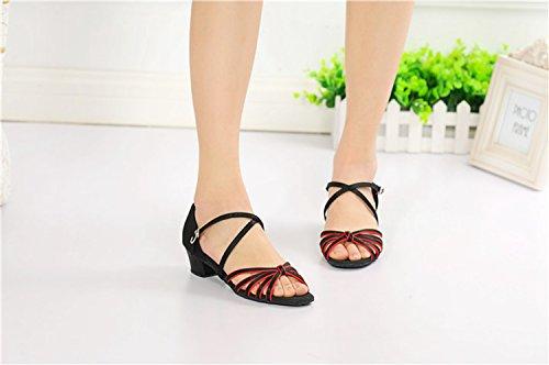 Miyoopark ,  Damen Tanzschuhe Red/Black-3.5cm Heel