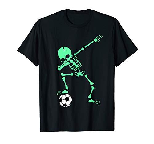 Kinder-tinte Kleidung (Dabbing Skelett Fußballtrikot, Halloween Dab Shirt, Kinder)