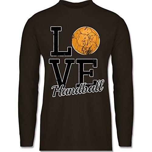 Handball - Love Handball - Longsleeve / langärmeliges T-Shirt für Herren Braun