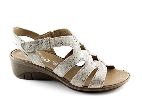 IGI&CO 78176 taupe scarpe donna sandali camoscio pelle strass strappo Beige