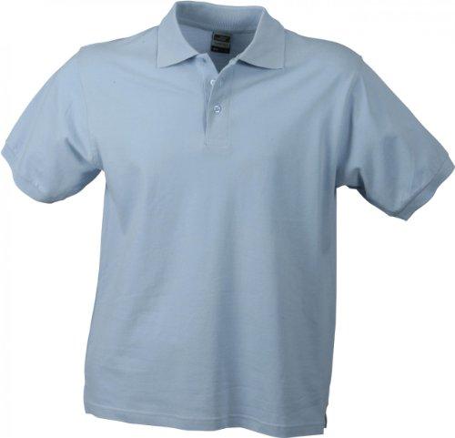Hochwertiges Polohemd mit Armbündchen Light Blue