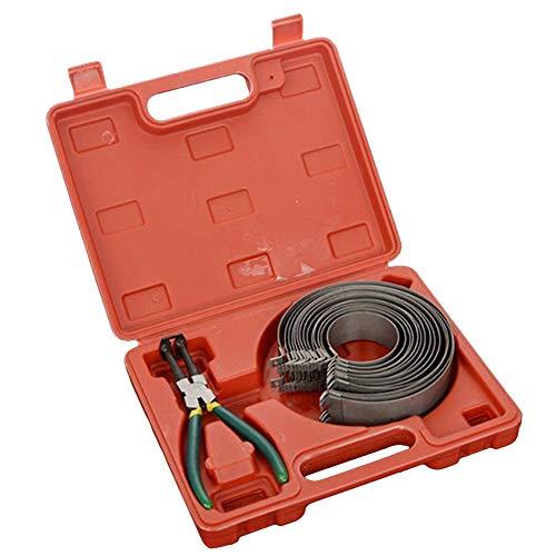 Set Compressore a Pistone,Kit Attrezzi per la Riparazione della Pinza del Compressore della Fascia Elastica del Motore