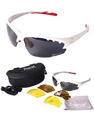 Rapid Eyewear Luna Weiß Polarisierte Sportbrille mit Wechselgläser x 3