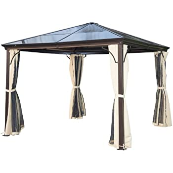 palram aluminium gazebo pavillon palermo vorh nge seitenteile passend f r palram. Black Bedroom Furniture Sets. Home Design Ideas