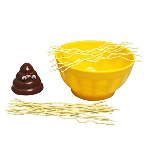 Lustige Eltern-Kind-interaktion Spielzeug gelb schüssel Nudeln niedlich scheiße DIY Party Familie Kinder Spielzeug Kunststoff Desktop Spiele Spielzeug - Haupt gelb