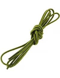 Les lacets Français - Lacets Ronds Coton Ciré Couleur Vert Colibri