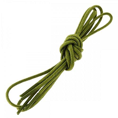 Les lacets Français Lacets Ronds Coton Ciré Couleur Vert Colibri