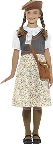 Onlyglobal Mädchen Zweiter Weltkrieg 1940's Kostüm Party Outfit Kinder Umsiedler Schulmädchen Kostüm - Evakuiertes Mädchen, Klein 4-6 (1940 Kinder Kostüm)