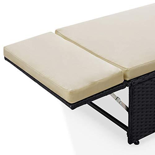 POLY RATTAN Lounge Gartenset Sofa Garnitur Polyrattan Gartenmöbel (Schwarz) - 6