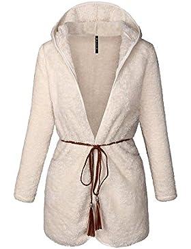 Mujer Manga Larga Trench Coat Invierno Abrigo Calentar Suelto Casual Outwear