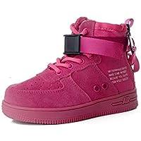 zj Calzado Infantil Velcro Seal Air Force No.1 Zapatos para Niños de Cuero, Niños Y Niñas Zhongbang, Zapatos Casuales, Materiales de Calidad, Zapatos para Caminar de Ocio,Rosado,32
