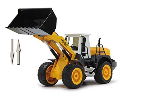 RC Auto kaufen Baufahrzeug Bild 4: Jamara 410005 - Radlader 440 1:20 2,4G - Schaufel heben / senken / abkippen, realistischer Motorsound (abschaltbar), programmierbare Funktionen, Blinker, Autoabschaltfunktion, 2 Radantrieb*