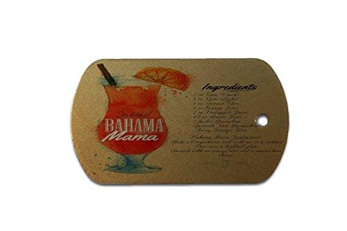Hundemarke Erkennungsmarke Plakat Motiv Rezept Bahama Mama bedruckt Küchenmotiv
