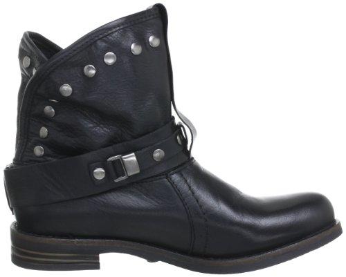 Buffalo London ES 30239 Damen Biker Boots Schwarz (PRETO 01)