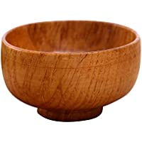 Walkretynbe Ciotola di legno rotonda naturale Insalata di zuppa Tagliatella  Riso di scossa Supporto di artigianato 44928cf17fa