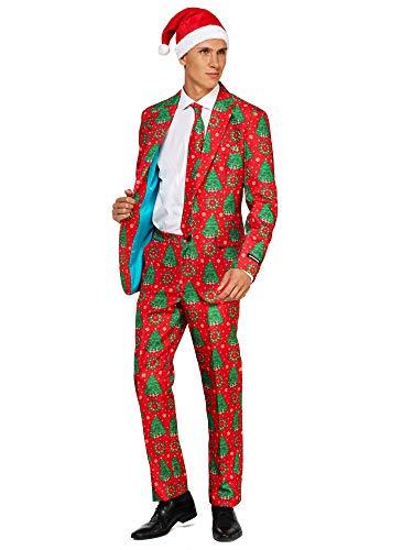 Suitmeister Costumes de Noël - avec Veste, Pantalon & Crava