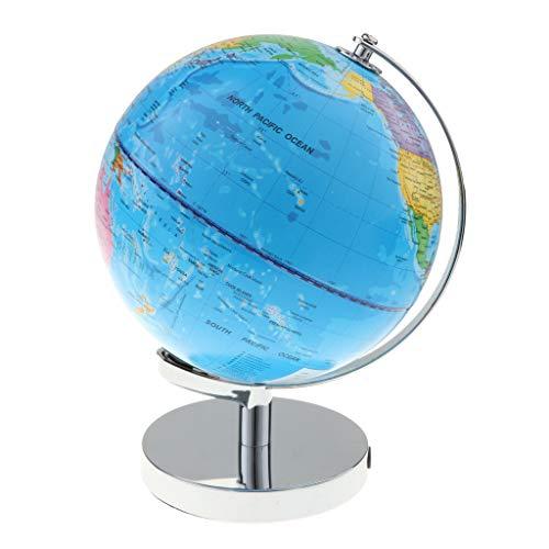 B Blesiya 2 in 1 Beleuchtete Geographischer Schülerglobus Nachtlicht, Globus mit deutlichem Weltkarte & Konstellations Karten, Schreibtisch Dekoration
