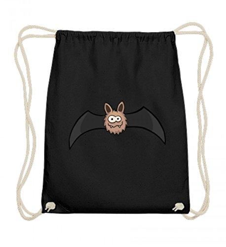 Hochwertige Baumwoll Gymsac - coole comic Fledermaus - für alle Fledermaus-Fans und Freunde dwer kleinen Vampire
