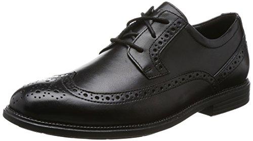 Rockport Herren Madson Wingtip Derbys, Schwarz (Black), 43 EU (Wingtip Schuhe)
