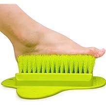 Rutschfeste Dusch Fußbürste Waschhilfe, Goldbeing Fuß Reinigungs - Massage Bürste - Verbessert Die Fußzirkulation Und Reduziert Fußschmerzen (Gelbgrün)
