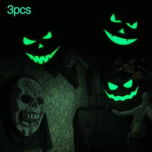 XYIYI Kreativer Mond mit Fledermäusen, Halloween-Dekoration, Wandaufkleber, Leuchtet im Dunkeln, für Halloween, Partys, Kinder, Wohnzimmer-Dekor Devilsmile