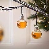 Lucaswang Christbaumschmuck, 6 Stück, kreativer Schnaps gefüllter Weihnachtsbaum, zum Aufhängen, befüllbare Kugel, Kunststoff, transparente Wasserflasche, Milchsaftkugeln, Plastik, farblos, 6x6cm