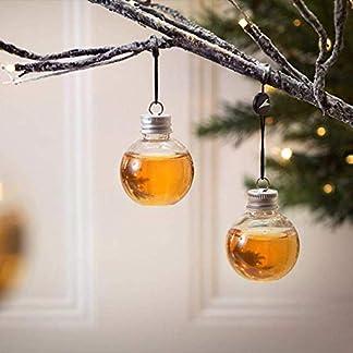 Lucaswang-Christbaumschmuck-6-Stck-kreativer-Schnaps-gefllter-Weihnachtsbaum-zum-Aufhngen-befllbare-Kugel-Kunststoff-transparente-Wasserflasche-Milchsaftkugeln