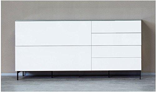 KITOON Sideboard (B 190 H 76 T 48 cm), Fußgestell, Nuß geölt (Echtholzfurnier) - 2