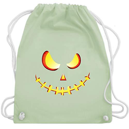 Halloween - Gruseliges Kürbis-Gesicht - Unisize - Pastell Grün - WM110 - Turnbeutel & Gym Bag