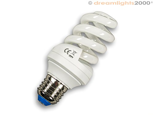 Energiesparleuchtmittel | Energiesparlampe | 11 Watt | Dimmbar | E27 Gewinde | 2700 K | Warmweiss