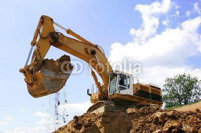 alu-dibond-bild-90-x-60-cm-engins-de-chantier-en-action-bild-auf-alu-dibond