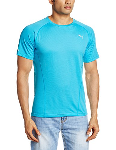 PUMA T-shirt da uomo Recupera Than You a maniche corte da donna, colore blu Atomic, L, 513779 02