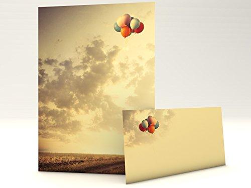 Motivpapier Set mit Umschlag End of Summer 20 Blatt A4 und 20 passende Kuverts