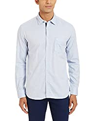 Parx Mens Casual Shirt (8907254451416_XMSS05293-B4_40_Medium Blue)