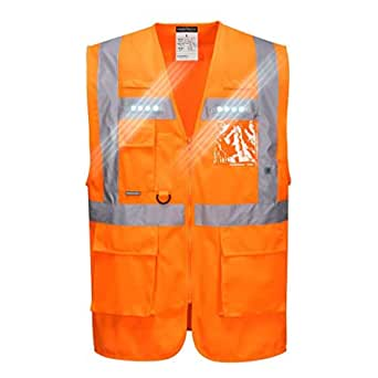 Portwest L476orrl Orion Led Executive Weste L Orange Gewerbe Industrie Wissenschaft