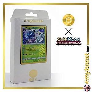 Araquanid 15/147 Holo Reverse - #myboost X Sun & Moon 3 Burning Shadows - Box de 10 cartas Pokémon Inglesas