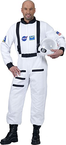 Männer Astronaut Kostüm - ESPA / FunnyFashion Weißes Astronaut Kostüm für Erwachsene