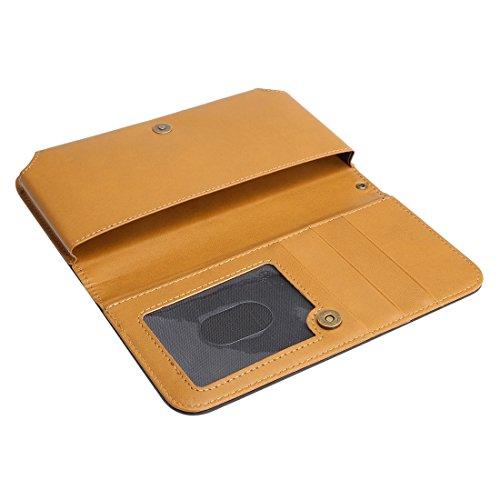 Wkae Case Cover Mappen-Art-Horizontal Flip-Ledertasche mit Foto-Rahmen und Karten-Slots und Brieftasche &Lanyard für Samsung Galaxy S7 / iPhone 6 / Sony Xperia Z5 / Huawei Honor 7i ( Color : Magenta ) schwarz