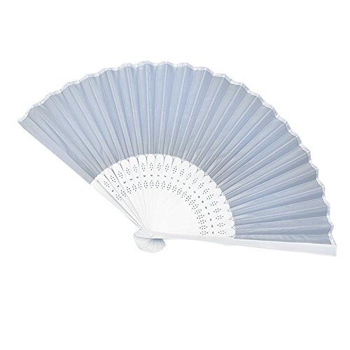 Party Spitze Seidenstoff Faltbar Handfächer Bambus, L, Einheitsgröße ()
