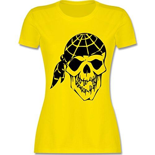 Piraten & Totenkopf - Totenkopf - tailliertes Premium T-Shirt mit Rundhalsausschnitt für Damen Lemon Gelb