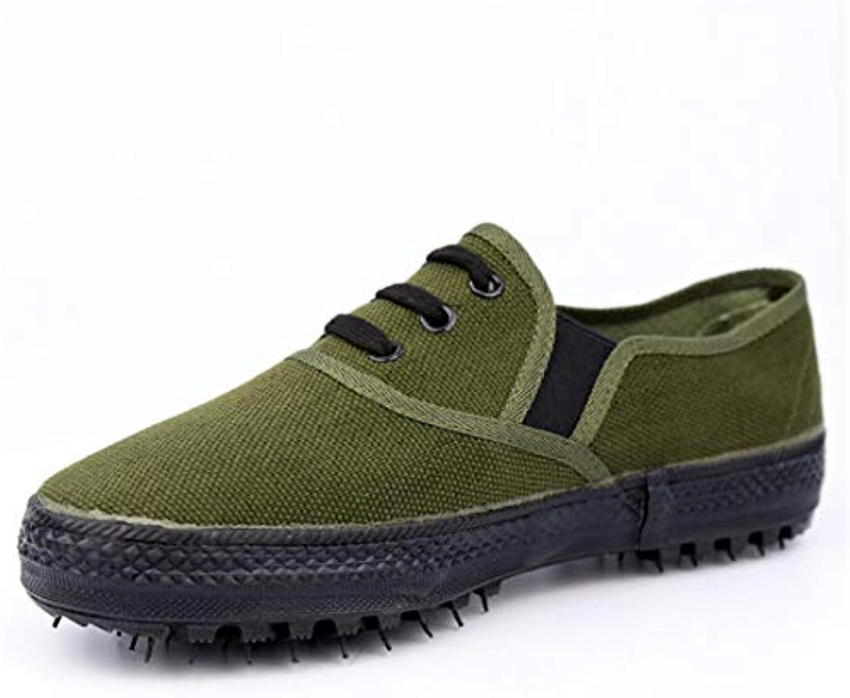 CAI&HONG-Domestics GCC Zapatos Antideslizantes de Corte bajo, Zapatos de Entrenamiento Militar Resistentes al  -