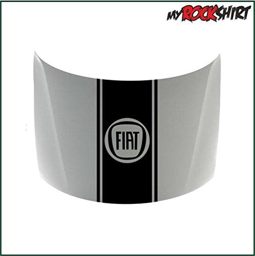 fiat-rennstreifen-motorhaube-45-cm-breite-bonus-testaufkleber-estrellina-glckstern-gedruckte-montage