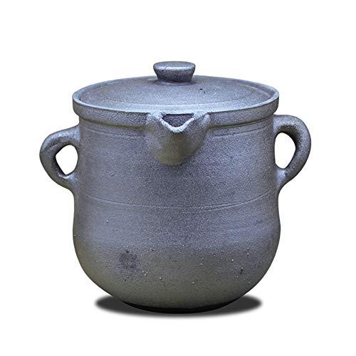 Chinesischer Tontopf,antike Casserole Handmade Retro Hohe Temperatur Eintopftopf Suppensteintopf Gesundheitsmedizin Topf Für Gas Feuer-b 7l