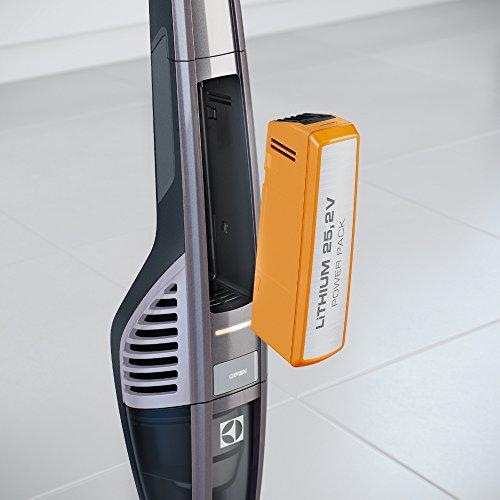 Electrolux UltraPower   Aspirador escoba con batería de Litio TurboPower  de 25.2 V  color tungsteno metalizado